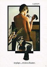 PUBLICITE ADVERTISING 104  1982  ARPEGE  parfum femme de LANVIN