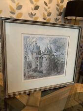 """FRAMED PICTURE CASTELL COCH WALES PICTURE 23.3.90 TREYNOR 13""""x11"""" FREE POSTAGE🌺"""