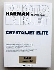 Harman Crystaljet Elite A4 Gloss 260gsm Inkjet Paper 50 sheets
