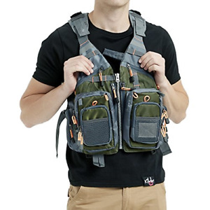 Obcursco Fly Fishing Vest Pack Adjustable for Men and Women with Breathable for