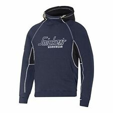 Snickers 28159504007 Logo Hoodie With Kangaroo Front Pocket Navy XL