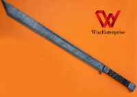 Sword Awesome custom Handmade Damascus Steel 33 inches Hunting Sword
