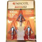 "Swhacker Broadheads Razor 252 100 Grain 1.5"" Broadhead Archery Hunting Fixed NEW"