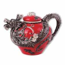 RED DRAGON Hand-Painted Ceramic Teapot, by Blue Sky Ceramics