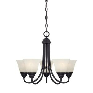 Designers Fountain Kendall 5 Light Chandelier, Oil Rubbed Bronze - 85185-ORB