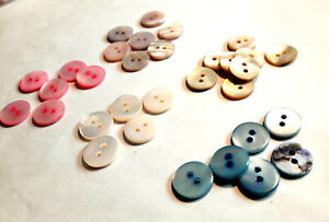 10 Pearl Buttons 2 Hole Blouse Shirt Naturally Sustainable Various Sizes/Colors
