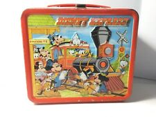 Vintage Walt Disney Express Metal Lunchbox Mickey Mouse Goofy