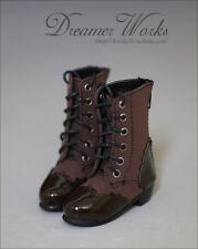Mimi Collection MSD Doc 1/4 BJD Obitsu Doll BOOTS Brown&Black Splice Shoes