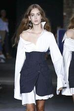 Monse..Italy..2017..White Cotton Poplin Dress..NWT $1,090!