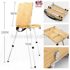 Portable Wooden Easel Drawing Sketch Painting Table Box Oil Paint Artis