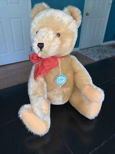 "16"" Vintage Hermann Teddy Original Bear Wool Cotten Humpback W. Germany"