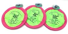 "Lot of 3 Pet Trends Soft Flying Disc for Dogs Green / Pink 9.5"" G174-05"