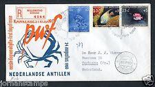 Nederlandse Antillen FDC E16 _ 3 M, met adres ; aangetekend