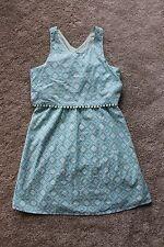 Girl's Size Large (10/12) Old Navy Teal/Blue Print Sundress