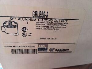 APPLETON ELECTRIC GRLB50-A Conduit Outlet Box Hazardous Location