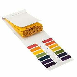 Litmus pH 1 to 14 Test Paper Book 80 Strips Universal Full Range Strips Tester