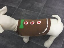 297: DCL-35 * GINGERBREAD MAN * DOG / CAT CHRISTMAS COSTUME  *