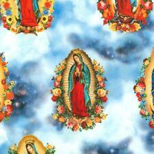 Robert Kaufman Inner Faith Digital Blessed Mother Mary Cotton Fabric BTY