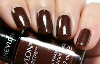 Revlon COLORSTAY Longwear Nail Enamel Polish FRENCH ROAST Brown w/ Holo Shimmer!