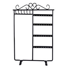 Earring Jewelry Necklace Display Rack Metal Stand Holder Organizer AU