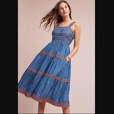 48e4bf811a Anthropologie Eri + Ali Women s Arla Dress Denim Midi Dress size 0  158