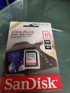 SanDisk - Ultra PLUS 32GB SDHC UHS-I Memory Card