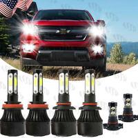 For Chevy Colorado 2015-2020 6x Combo White LED Headlight Hi/Lo Fog Light Bulbs