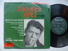 "25 cms 10"" JACQUES BREL 2 Quand on n a que l amour A. POPP M. LEGRAND B 76085 R"