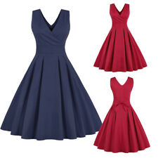 Womens Sexy Vintage Retro 1950's Rockabilly Evening Party Cocktail Swing Dress