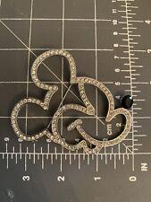 "Huge 3"" Vintage Mickey Mouse Crystal Head Brooch/Pin Disney Store"