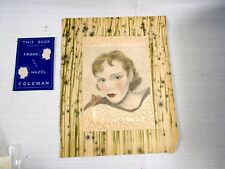 Original Pencil Drawing Art Deco Woman Colored Tinted Matted 1930's Coleman
