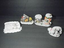 Fitz & Floyd Charming Tails Christmas Figures Lot Mice Decor