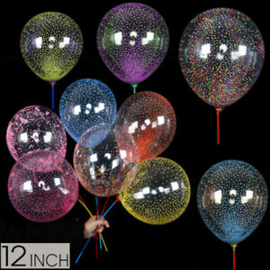 "Pack 100 Foam Confetti Balloons Latex 12"" Decorations Helium Birthday Party Wedd"