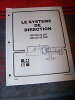 68 Manuel HYSTER Le systeme de direction H20.00-32.00F H36.00-48.00C