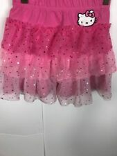 Hello Kitty Girls' Skirts Size 7/8 Pink Sparkles TuTu Above The Knee 100% Cotton