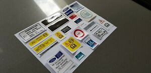 Ford Fiesta RS Turbo Engine bay Decal Sticker Set