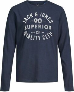 M9°8583 LANGARMSHIRT VON JACK & JONES JUNIOR IN NAVY GR. 164 NEU