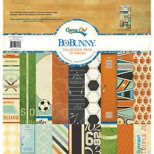 "American Crafts 12"" x 12"" BoBunny Game On Paper Pad Collection Pack - 19 Sheets"