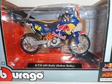 Moto KTM 450 Rally (Dakar Rally) Red Bull Factory Racing  Burago 1/18