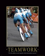 Bicycle Motivational Poster Art Print Mountain Road Bike Helmet Shorts MVP134