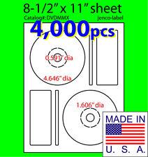 4,000 Memorex Compatible CD/DVD Labels, Matte White Laser InkJet