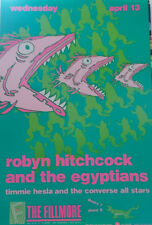 ROBYN HITCHCOCK  FILLMORE POSTER Timmie Hesla Converse All Stars ORIGINAL BGF6