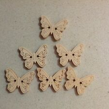 Wooden BUTTERFLY Buttons 6 Pieces 2 HOLE 22mm Aussie Seller