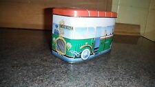 NOVELTY TIN MOTOR MTM COACHES VINTAGE STYLE BUS TRAM SHAPED CONTAINER