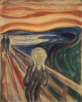 EDVARD MUNCH THE SCREAM famous landscape art print reproduction on canvas 18x24