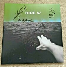 RIDE BAND SIGNED THIS IS NOT A SAFE PLACE VINYL ALBUM BRITISH ROCK UK ANDY BELL