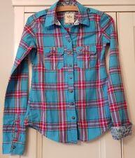 Woman's/Girls HOLLISTER SHIRT/TOP - Size XS - Red & Blue Check - soft cotton