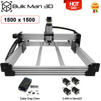 1.5*1.5M 4Axis WorkBee CNC Router Machine Kit Milling Engraver + Cable Chain Set