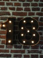 LED CARNIVAL 18TH  BIRTHDAY CELEBRATION NUMBERS  METAL LARGE 33 CM.