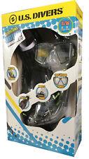 U.S. Divers Unisex Adult Snorkel Set Mask Snorkel Fins Bag Snorkeling Scuba S/M